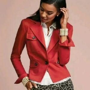 CAbi Women's 6 Red Jacket Crimson Fall